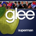 glee superman cover