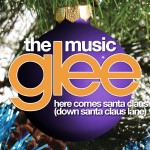 glee here comes santa claus cover