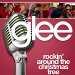 glee rockin' around the christmas tree cover